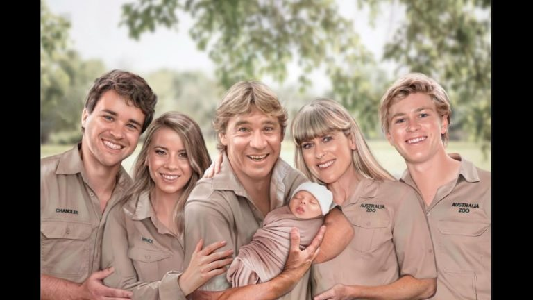 Bindi Irwin shares family portrait which includes late dad