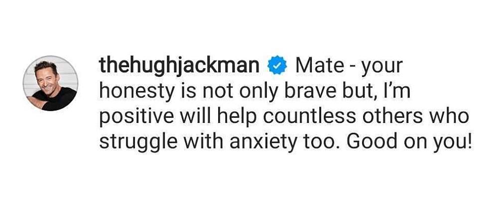 Hugh Jackman comments on Ryan Reynolds mental health post