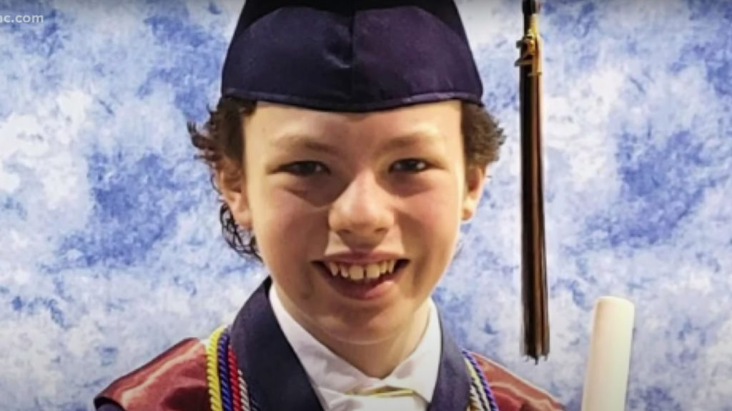Kid Graduates From High School and College in the same week