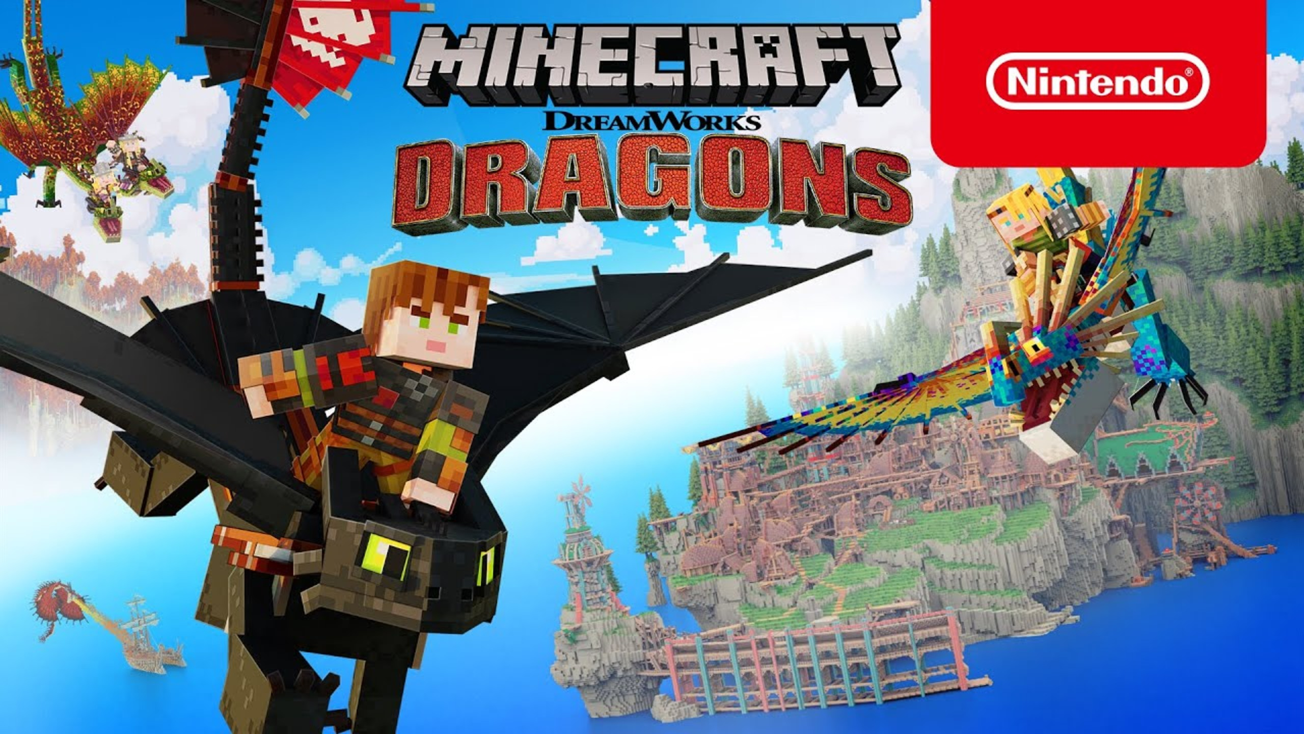 Minecraft How To Train Your Dragon DLC Trailer