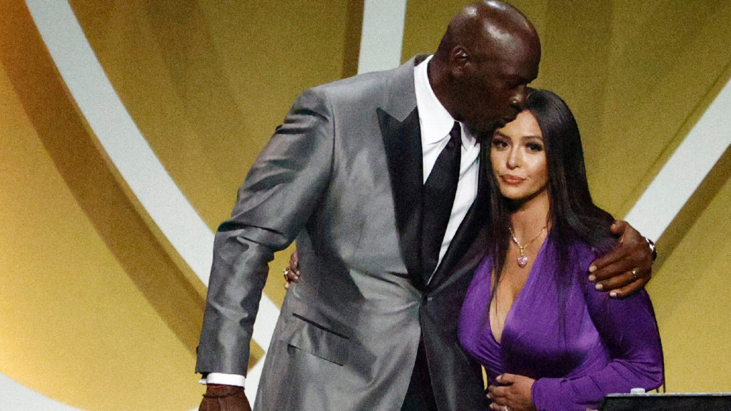 Vanessa Bryant and MJ at HOF Induction