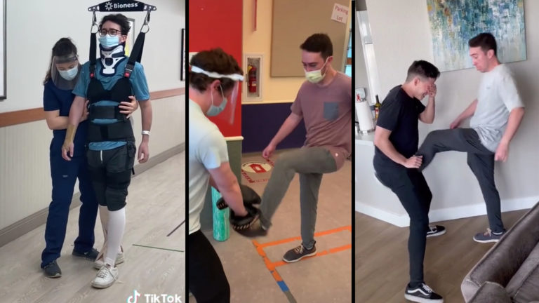 Paralyzed Man Kick in Balls