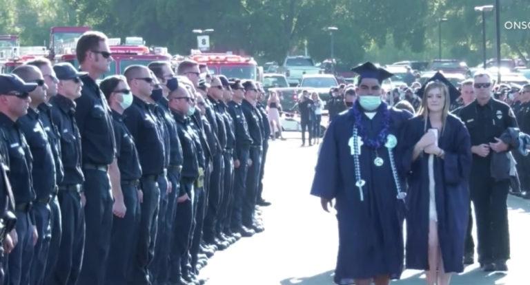 Firefighter's Daughter's Graduation