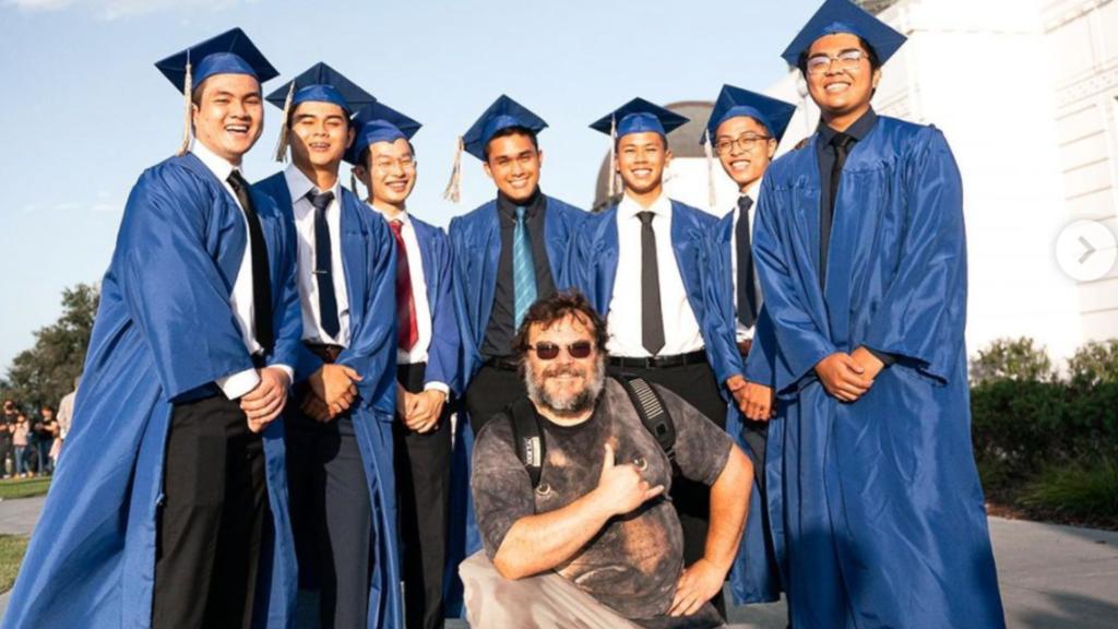 Jack Black Poses With Graduating Seniors