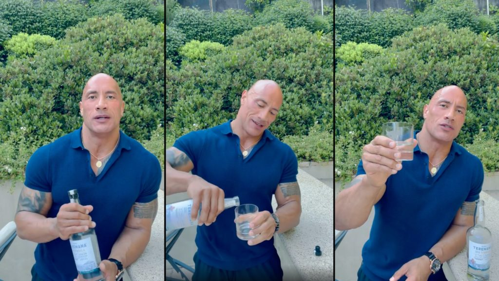The Rock toasts fellow dads on Father's Day