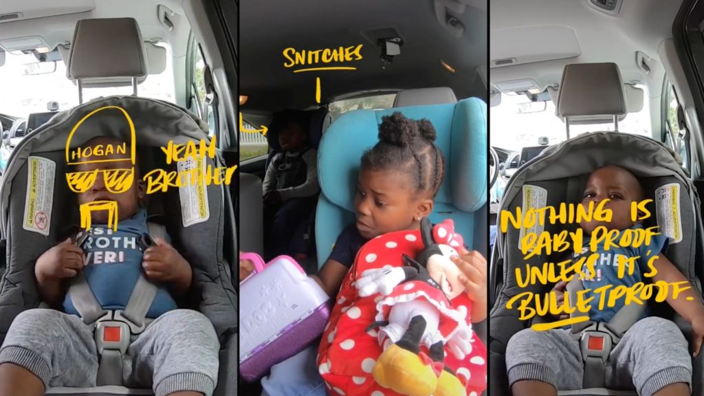 Dad narrates baby's Uziah's escape from car seat