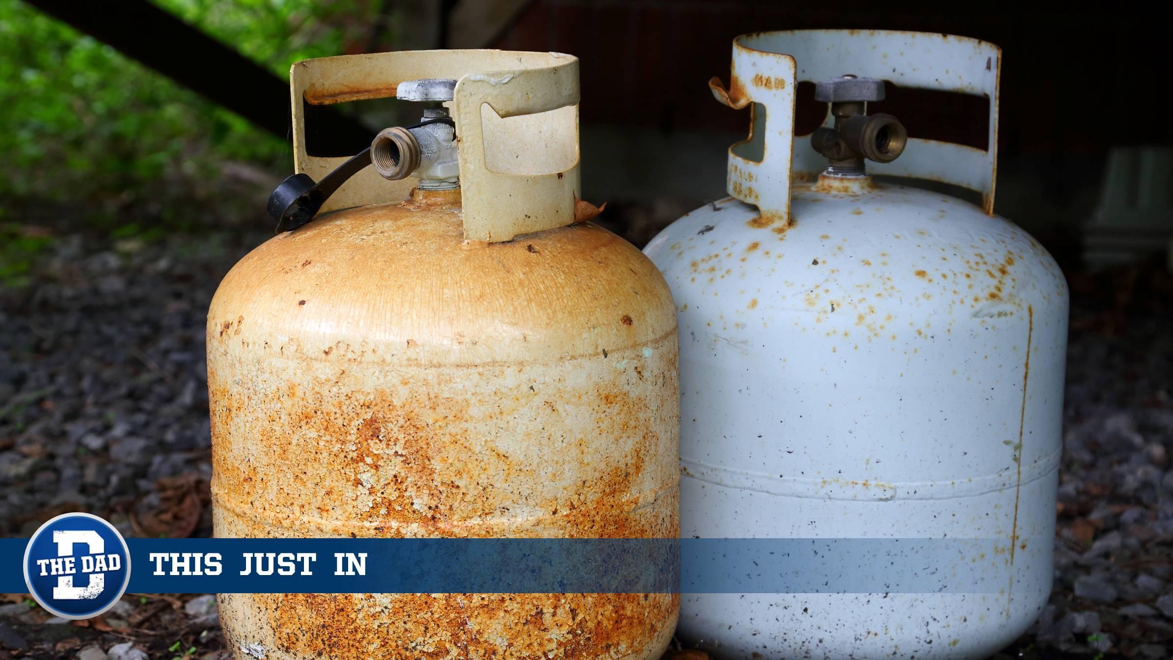 Empty BBQ Gas Tanks