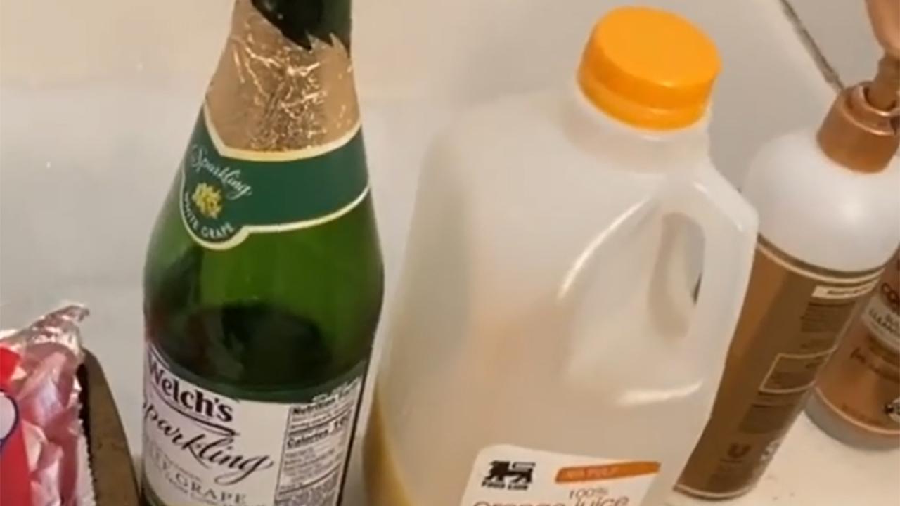 11yo makes mimosas