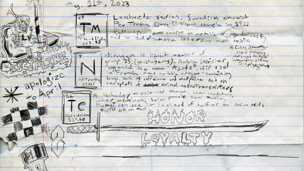 Seth Rogen's TMNT notes