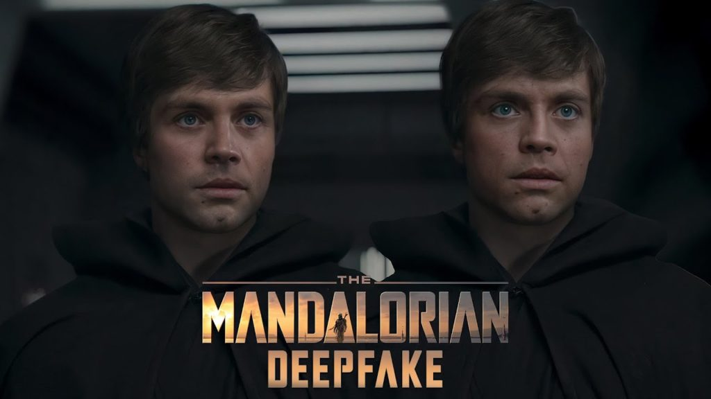 Two versions of Luke Skywalker from Mandalorian