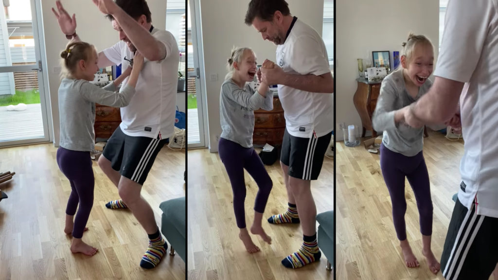 10yo stands for first time to Dad Dance