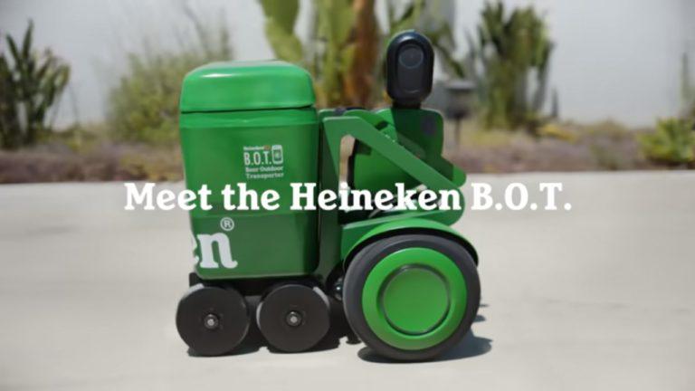 Heineken's Beer Transporting Robot in Action