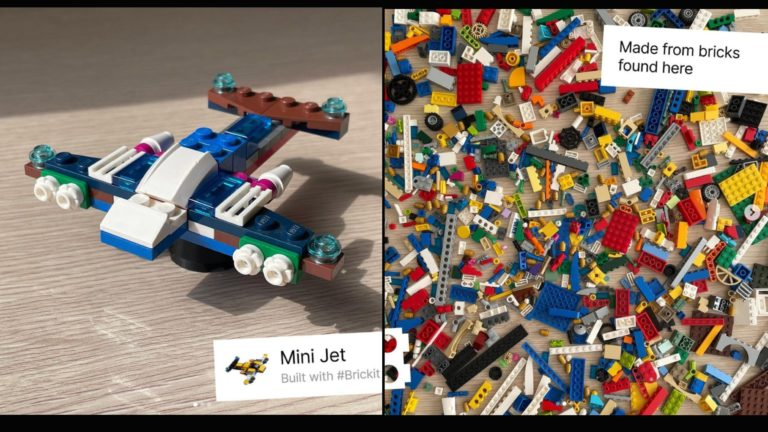 BRICKIT app provides users with build options after they scan pile of LEGO bricks