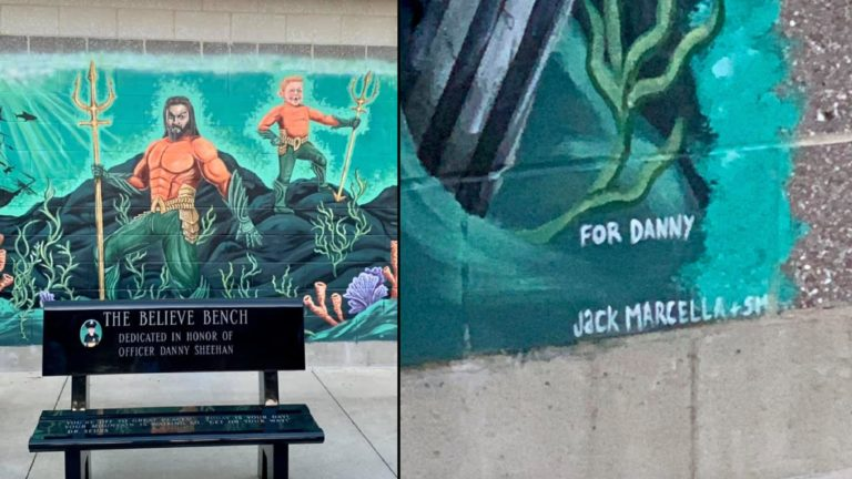 Boys and Girls Club reveals mural of Aquaman and his biggest fan