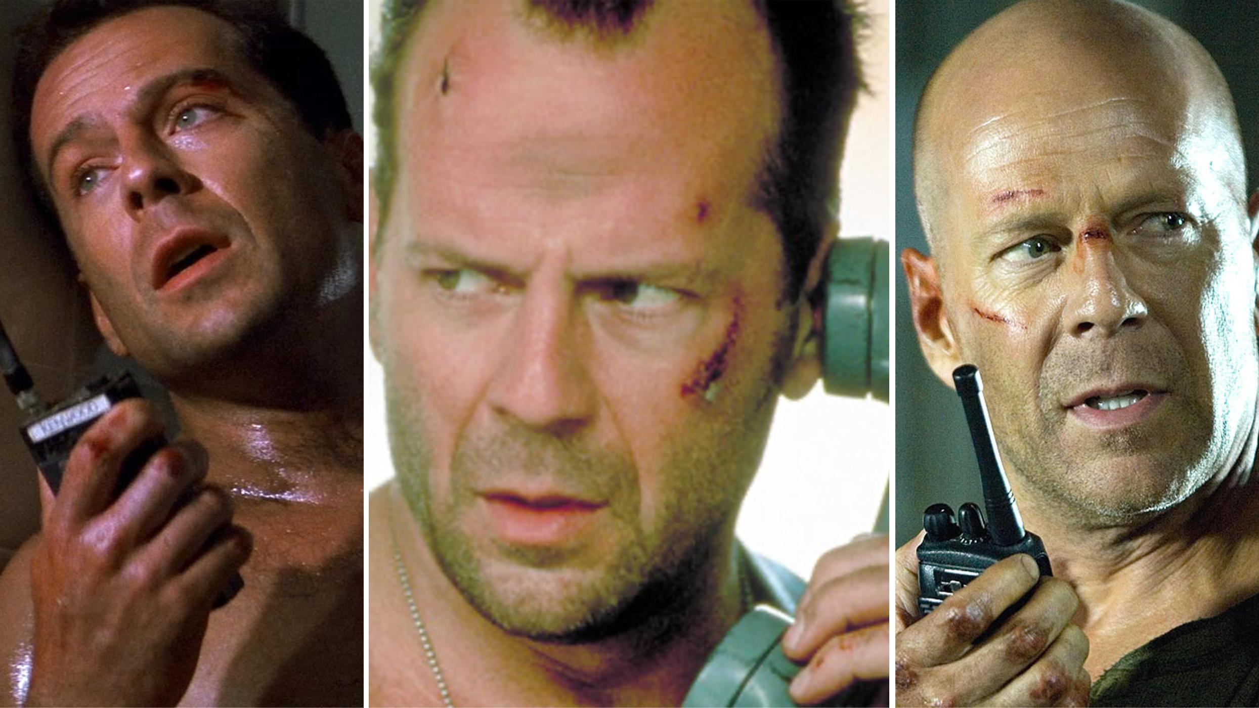 Bruce Willis in Three Different Die Hards