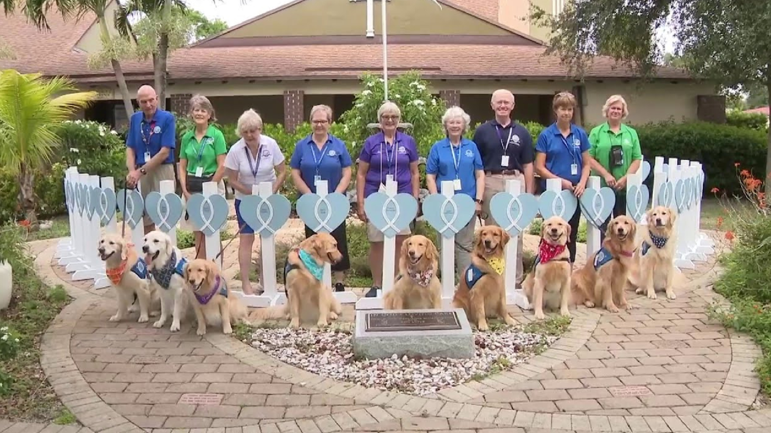 Therapy Dogs Miami Building Collapse