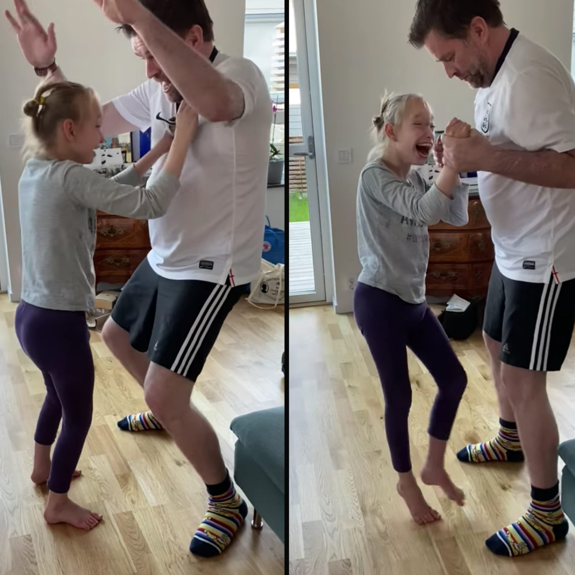 10-Yr-Old With Special Needs Stands for the First Time To Dance With Her Dad
