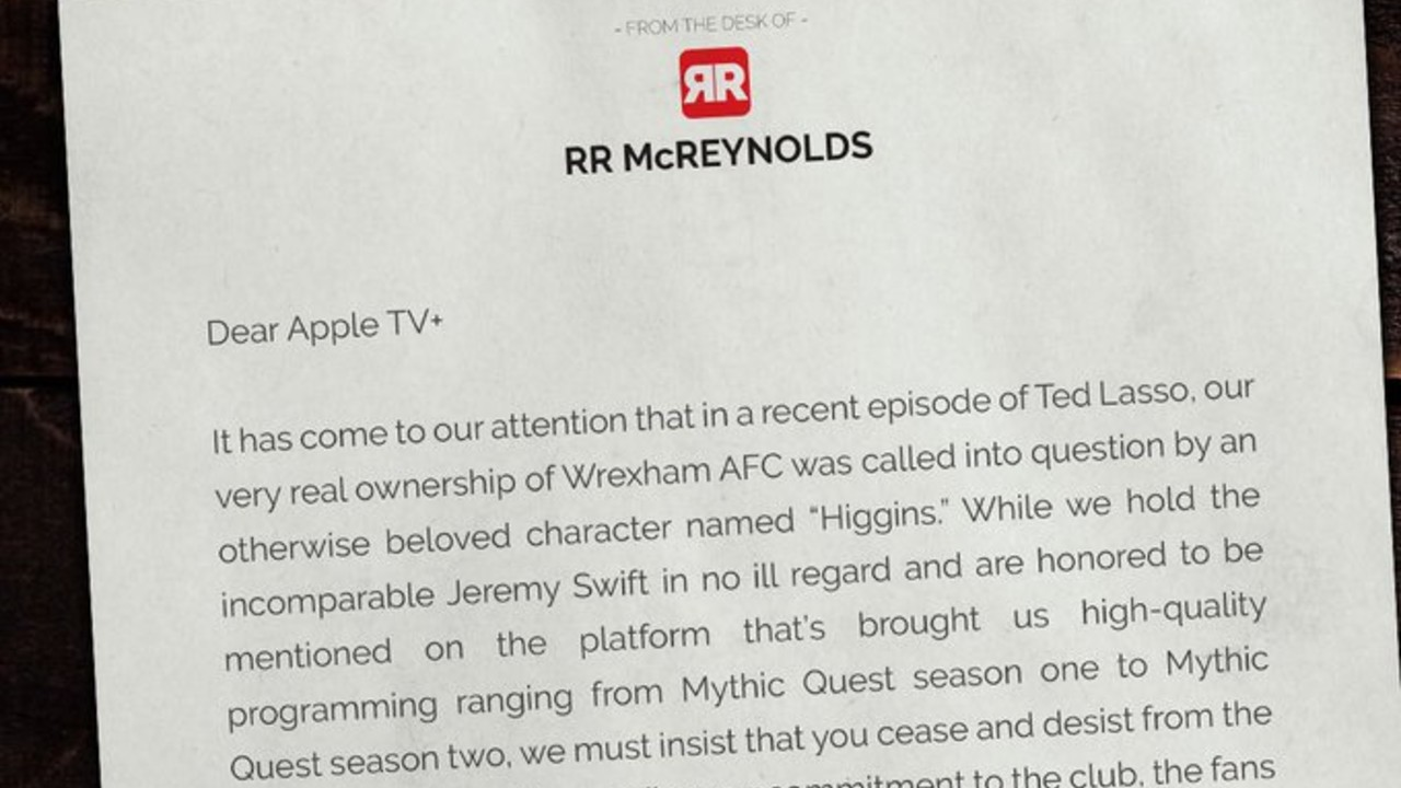 Ryan Reynolds and Rob McElhenny Fire Back At Ted Lasso
