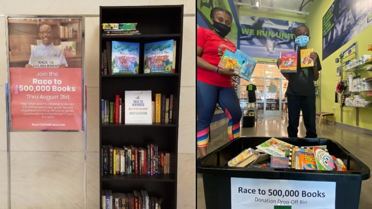 10-year-old aims to donate 500,000 books