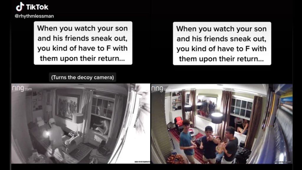 Dad gets payback after catching son sneaking out