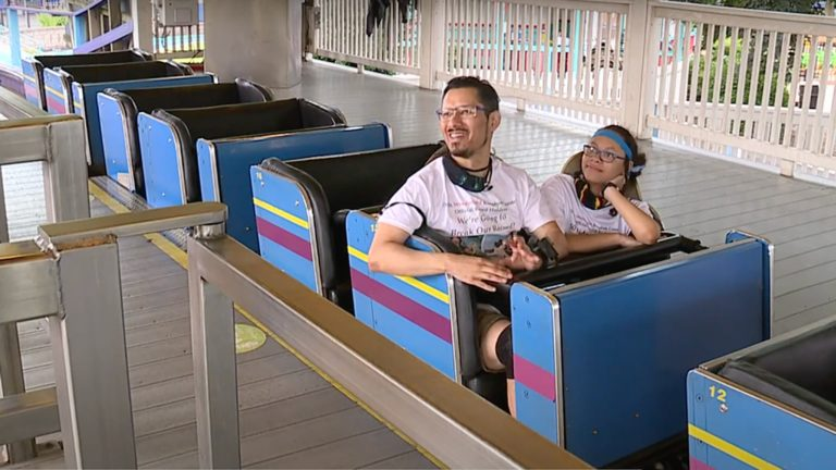 Dad and daughter break roller coaster record