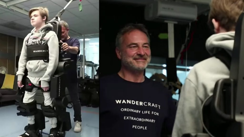 Dad builds robotic exoskeleton for son