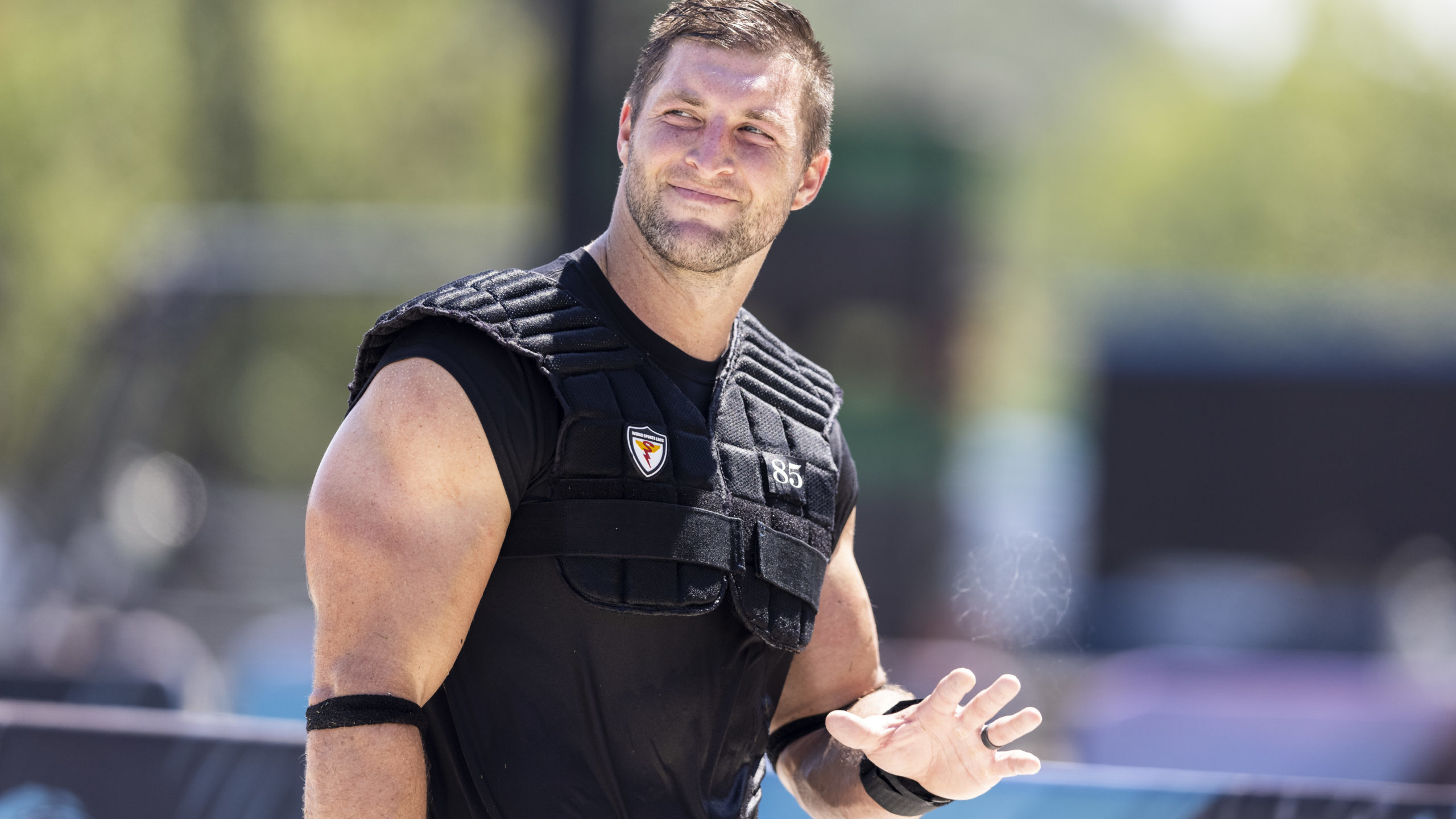 Tim Tebow Hanging Up Cleats