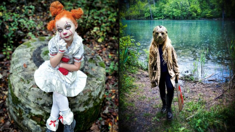 7-Year-Old cosplays iconic horror characters