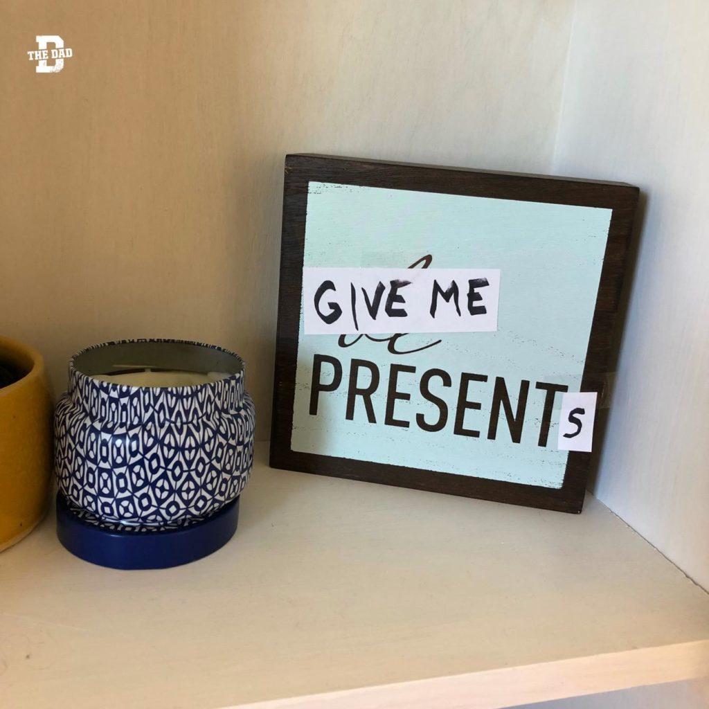 Give me presents. Decor, decoration, home
