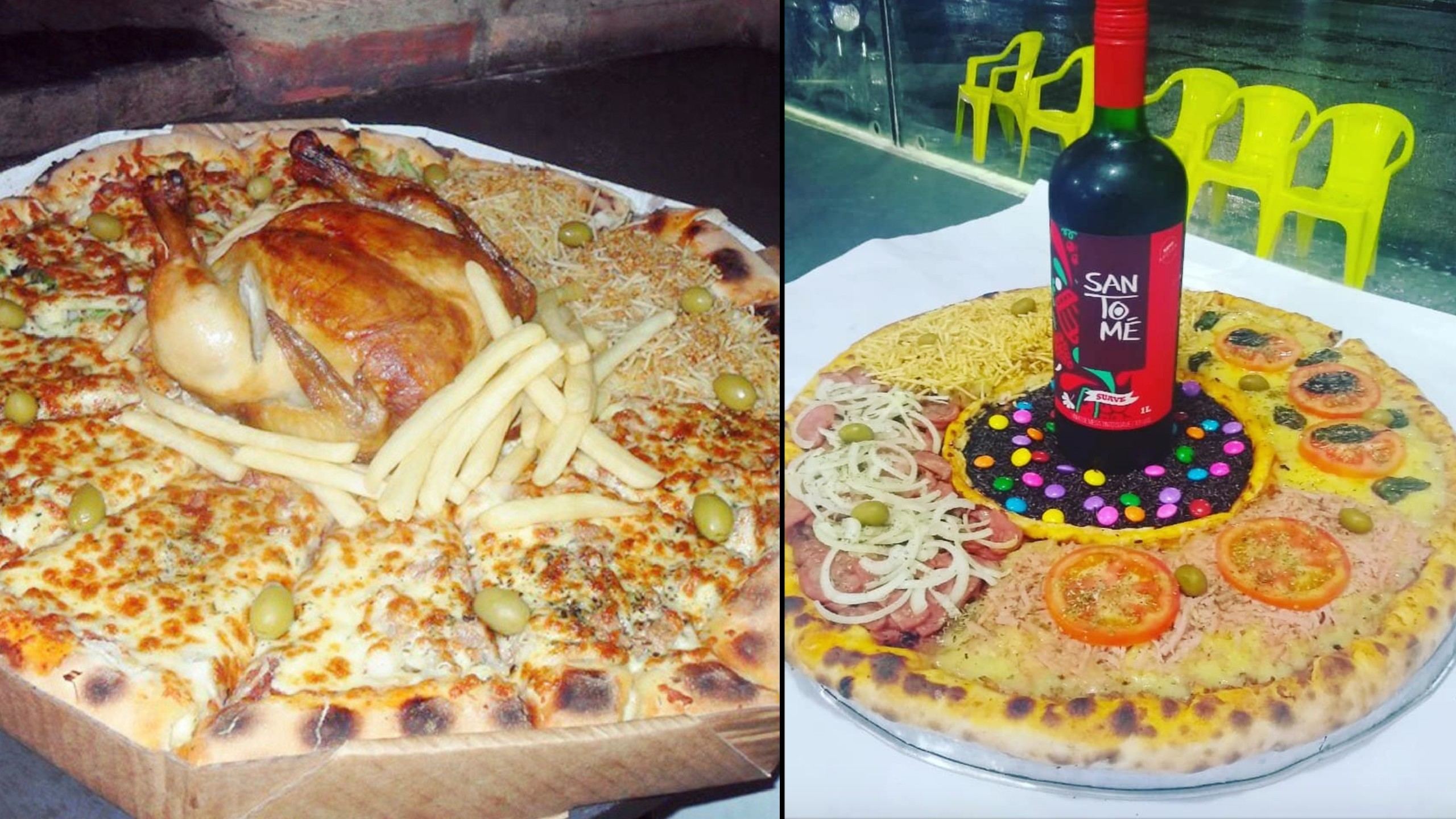 Pizza Restaurant in Brazil Creates Some Unexpected Pies