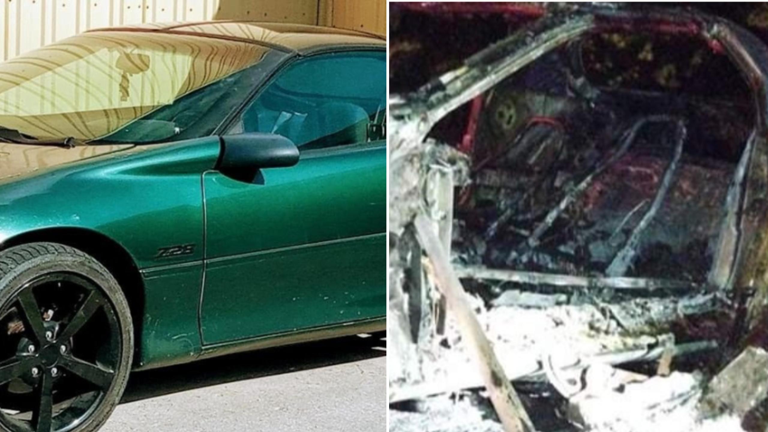 Restored Car Fire