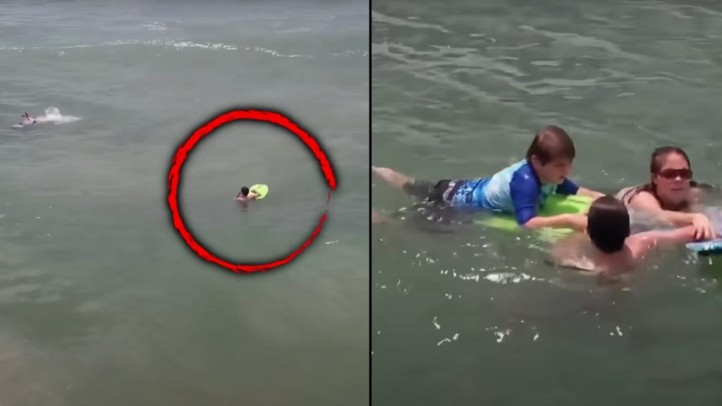 Teen saves mom and son from rip current