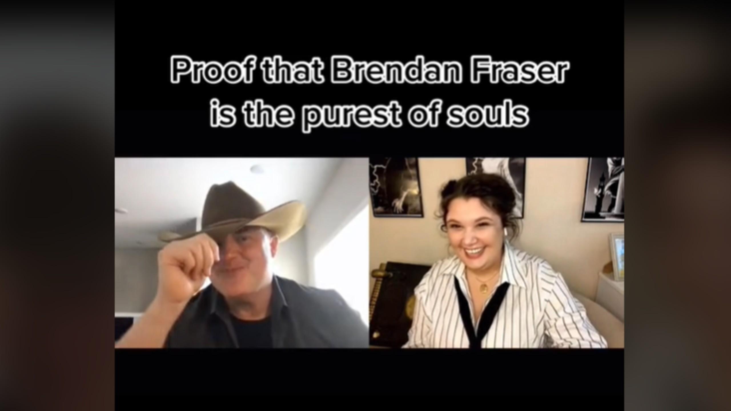 Brendan Fraser TikTok Video