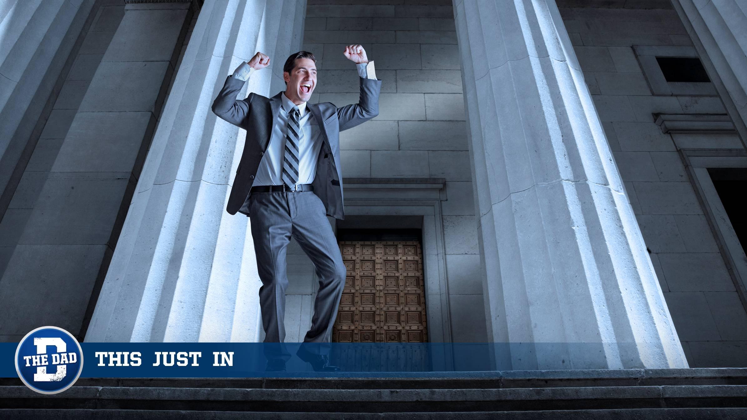 Dad Celebrates Legal Victory
