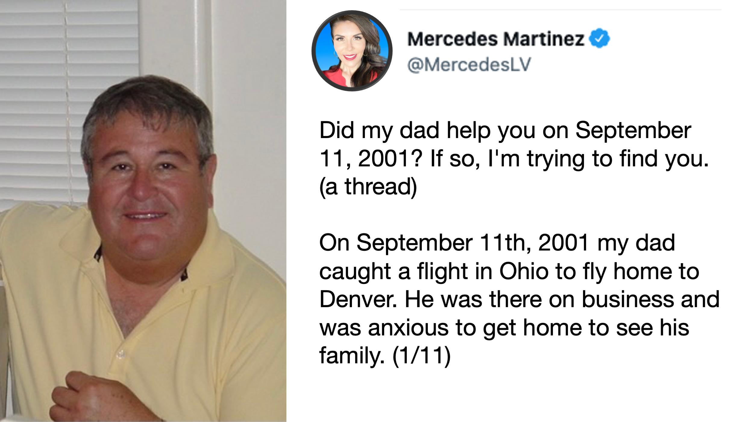 Mercedes Martinez Tweet about her father