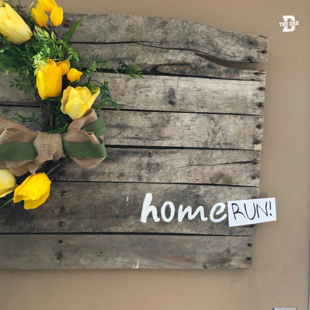Home(written in sharpie)RUN! Decoration, home, DIY