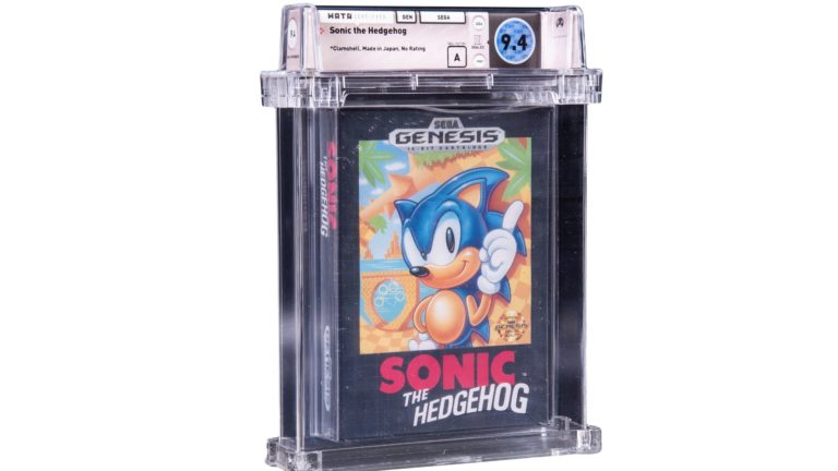 Sonic the Hedgehog Sega Genesis Auction