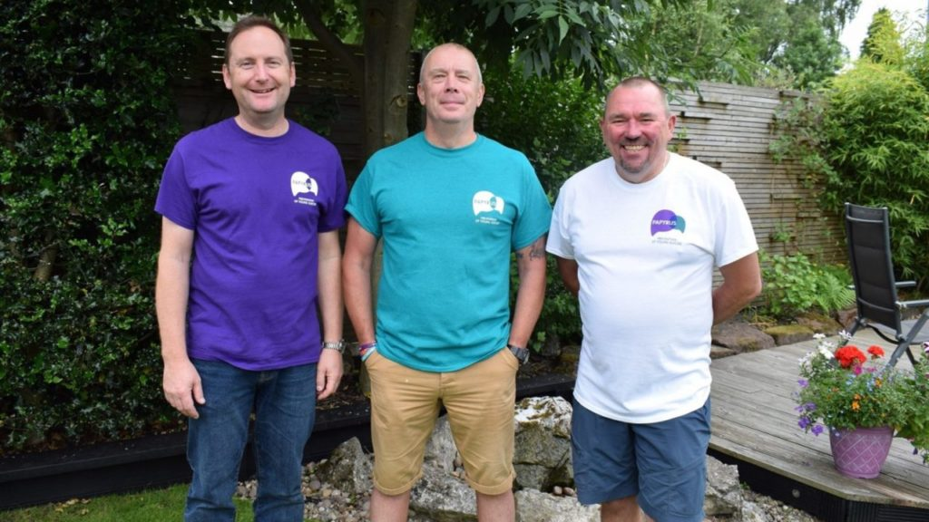 3 dads walking for suicide awareness