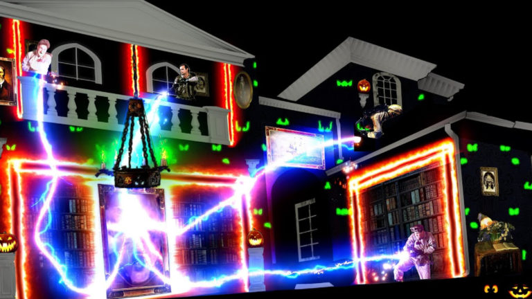 Ghosbusters Light Show