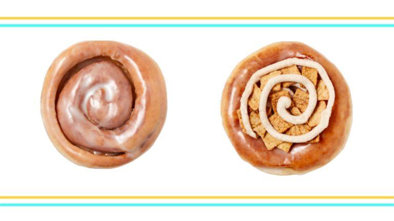 Krispy Kreme Cinnamon Rolls Pair with Cinnamon Toast Crunch